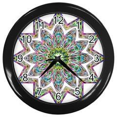 Decorative Ornamental Design Wall Clocks (black) by Amaryn4rt
