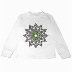 Decorative Ornamental Design Kids Long Sleeve T Shirts