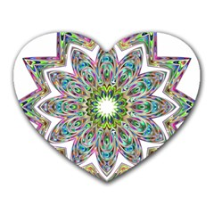Decorative Ornamental Design Heart Mousepads