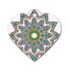 Decorative Ornamental Design Dog Tag Heart (two Sides)