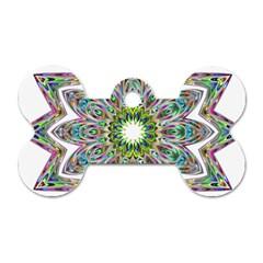 Decorative Ornamental Design Dog Tag Bone (one Side)