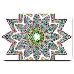Decorative Ornamental Design Large Doormat  by Amaryn4rt
