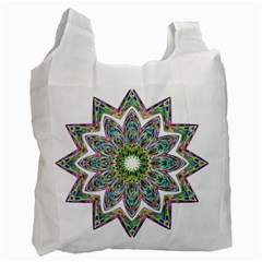 Decorative Ornamental Design Recycle Bag (one Side)
