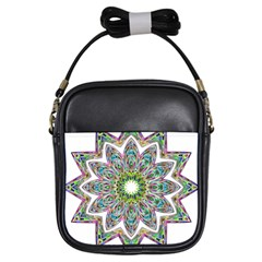 Decorative Ornamental Design Girls Sling Bags