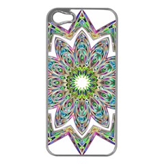Decorative Ornamental Design Apple Iphone 5 Case (silver) by Amaryn4rt