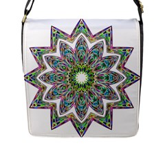 Decorative Ornamental Design Flap Messenger Bag (l)