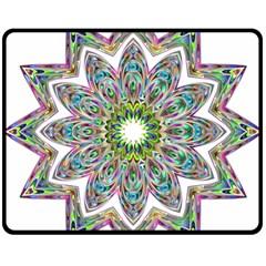 Decorative Ornamental Design Double Sided Fleece Blanket (medium)  by Amaryn4rt