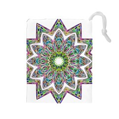 Decorative Ornamental Design Drawstring Pouches (large)
