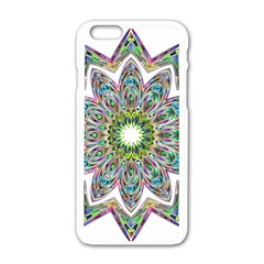 Decorative Ornamental Design Apple Iphone 6/6s White Enamel Case