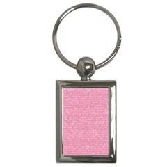 Handwriting  Key Chains (rectangle)  by Valentinaart