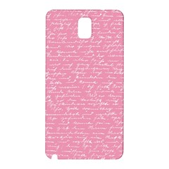 Handwriting  Samsung Galaxy Note 3 N9005 Hardshell Back Case by Valentinaart