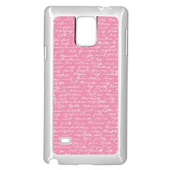 Handwriting  Samsung Galaxy Note 4 Case (white) by Valentinaart