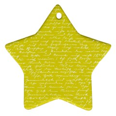 Handwriting  Ornament (star) by Valentinaart
