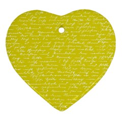 Handwriting  Heart Ornament (two Sides) by Valentinaart