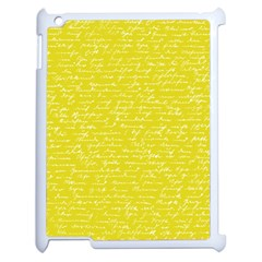 Handwriting  Apple Ipad 2 Case (white) by Valentinaart