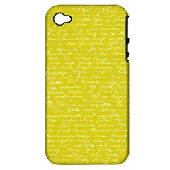 Handwriting  Apple Iphone 4/4s Hardshell Case (pc+silicone) by Valentinaart