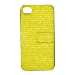 Handwriting  Apple Iphone 4/4s Hardshell Case With Stand by Valentinaart