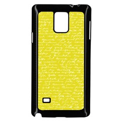 Handwriting  Samsung Galaxy Note 4 Case (black) by Valentinaart