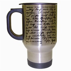 Handwriting  Travel Mug (silver Gray) by Valentinaart