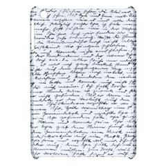 Handwriting  Apple Ipad Mini Hardshell Case by Valentinaart