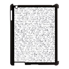 Handwriting  Apple Ipad 3/4 Case (black) by Valentinaart
