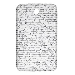 Handwriting  Samsung Galaxy Tab 3 (7 ) P3200 Hardshell Case  by Valentinaart
