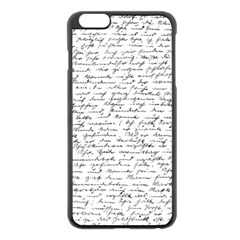 Handwriting  Apple Iphone 6 Plus/6s Plus Black Enamel Case by Valentinaart