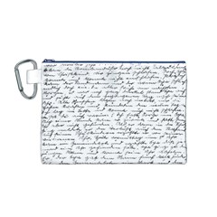 Handwriting  Canvas Cosmetic Bag (m) by Valentinaart