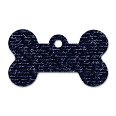 Handwriting Dog Tag Bone (one Side) by Valentinaart