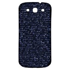 Handwriting Samsung Galaxy S3 S Iii Classic Hardshell Back Case by Valentinaart