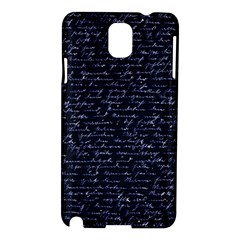 Handwriting Samsung Galaxy Note 3 N9005 Hardshell Case by Valentinaart