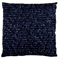 Handwriting Standard Flano Cushion Case (two Sides) by Valentinaart
