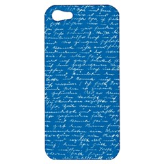 Handwriting Apple Iphone 5 Hardshell Case by Valentinaart