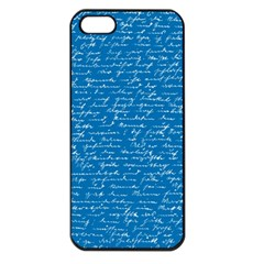 Handwriting Apple Iphone 5 Seamless Case (black) by Valentinaart