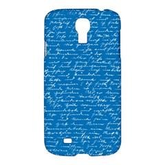 Handwriting Samsung Galaxy S4 I9500/i9505 Hardshell Case by Valentinaart