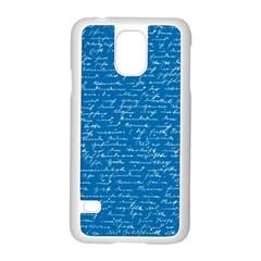 Handwriting Samsung Galaxy S5 Case (white) by Valentinaart