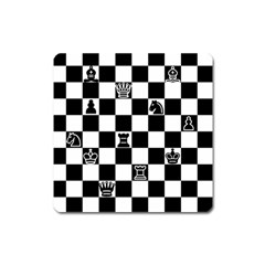 Chess Square Magnet by Valentinaart