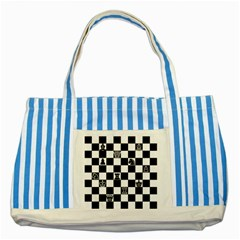 Chess Striped Blue Tote Bag by Valentinaart