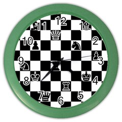 Chess Color Wall Clocks by Valentinaart