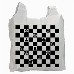 Chess Recycle Bag (one Side) by Valentinaart