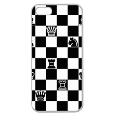 Chess Apple Seamless Iphone 5 Case (clear) by Valentinaart