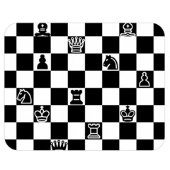 Chess Double Sided Flano Blanket (medium)  by Valentinaart