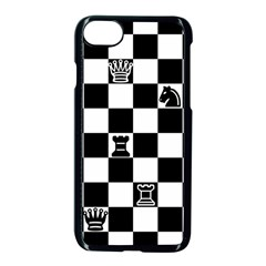 Chess Apple Iphone 7 Seamless Case (black) by Valentinaart