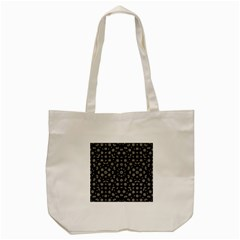 Dark Ditsy Floral Pattern Tote Bag (cream) by dflcprints