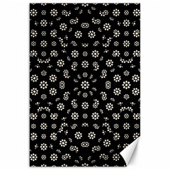 Dark Ditsy Floral Pattern Canvas 20  X 30   by dflcprints