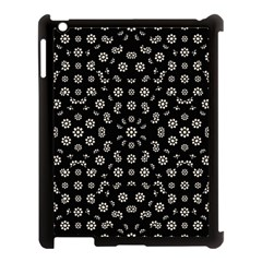 Dark Ditsy Floral Pattern Apple Ipad 3/4 Case (black) by dflcprints