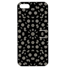 Dark Ditsy Floral Pattern Apple Iphone 5 Hardshell Case With Stand by dflcprints