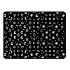 Dark Ditsy Floral Pattern Double Sided Fleece Blanket (small)  by dflcprints