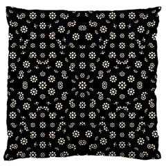 Dark Ditsy Floral Pattern Standard Flano Cushion Case (one Side) by dflcprints