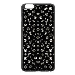 Dark Ditsy Floral Pattern Apple Iphone 6 Plus/6s Plus Black Enamel Case by dflcprints